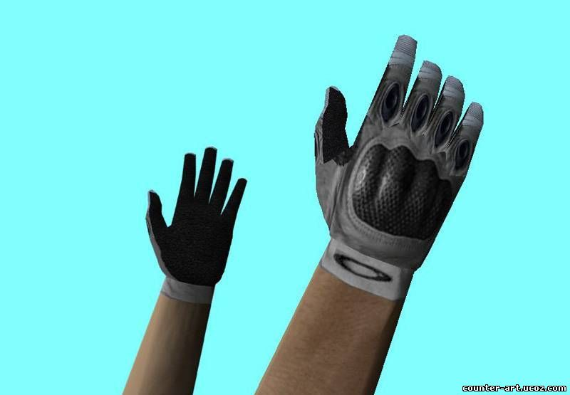 Модель рук Oakley SI white gloves CS 1.6