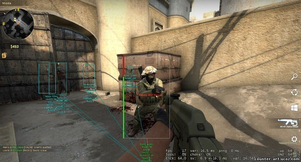 New Internal/External Customizable Multi-Hack V: 1.2 CS:GO