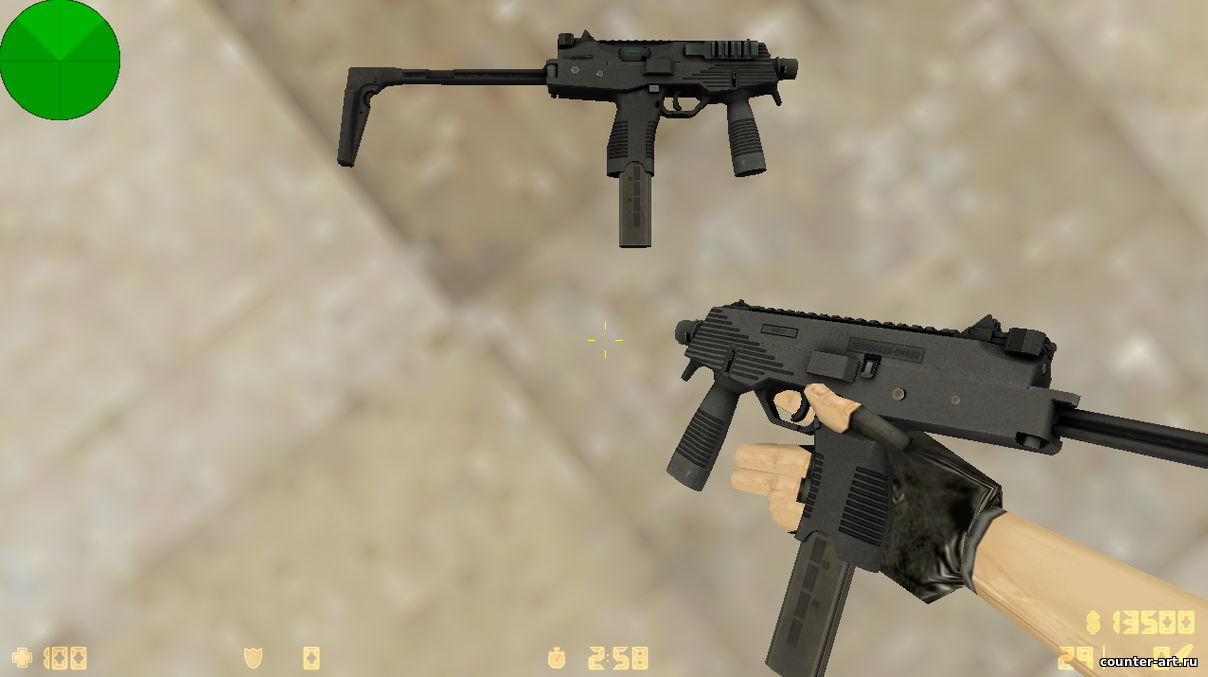 Модель MP9 из CS:GO для CS 1.6