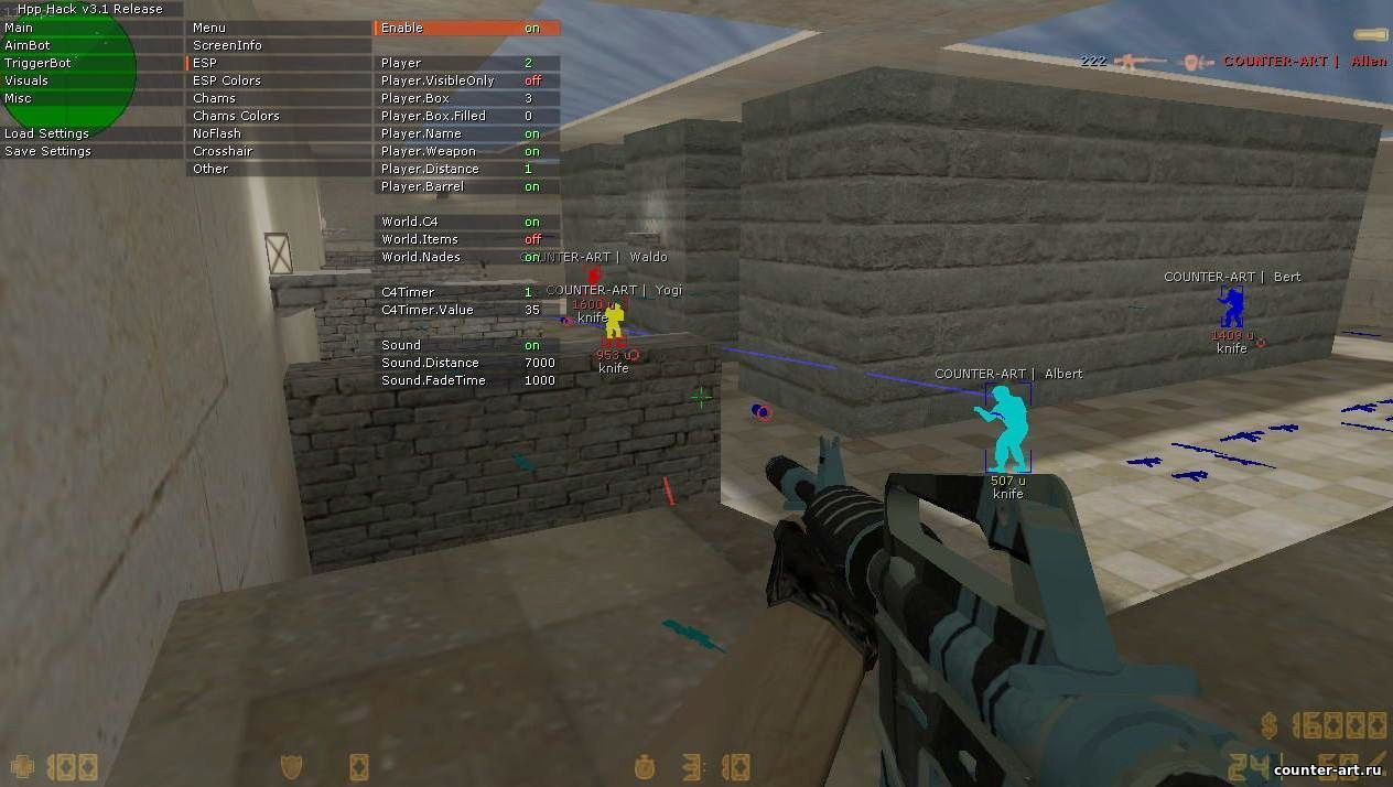 Hpp Hack - Мощный AIM/ESP/WH/TRIGGERBOT для CS 1.6